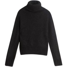 ACNE STUDIOS Voletta Sweater ($315) ❤ liked on Polyvore featuring tops, sweaters, black turtleneck top, black sweater, acne studios, turtle neck tops and turtle neck sweater