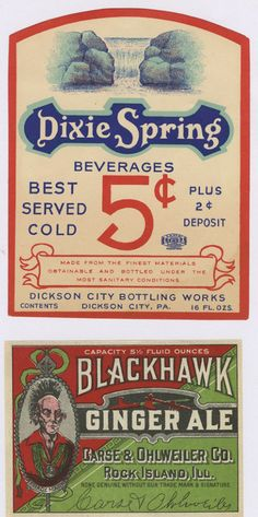 Labels for so many products are the first line of attack on the consumer. Some labels are beautiful, others are mundane—but when seen together, those designed during the early 20th century reveal an interesting consistency. These particular labels are for …