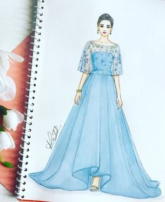Dress Design Drawing, Dress Design Sketches, Fashion Design Sketchbook, Dress Drawing, Fashion Design Drawings, Fashion Sketches, Drawing Sketches, Dress Designs, Drawing Art