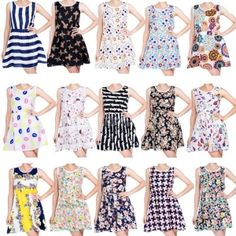 New Women Summer Dress Casual Ladies Slim Sleeve Floral Print Chiffon Short Beach Mini Dress