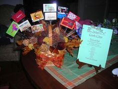 Gift card basket......I actually made my own version but its similar to this!
