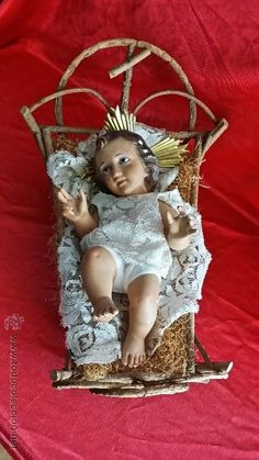 PRECIOSO NIÑO JESÚS CON OJOS DE CRISTAL
