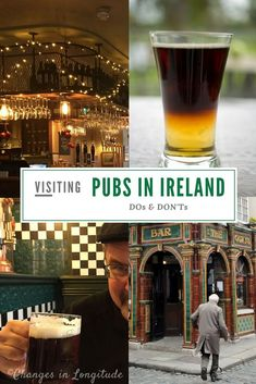 Do's and don't when visiting a pub in Ireland