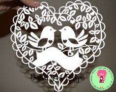 It's a Girl Papercut Template SVG / DXF Cutting by DigitalGems