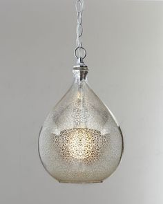 Mercury-Glass Pendant Light at Horchow. This is a strong contender.