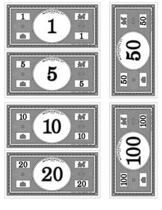 printable Monopoly board, money, property cards, and other cards ...