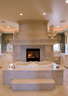 Add a flatscreen over the fireplace an it would be perfect