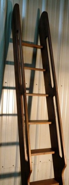 Shipu0027s Ladder for Loft/Library/Attic - Custom Built - American Black Walnutu2026 & Antique Loft Ladder-Hand Crafted Hybrid Loft ~ Ship Ladder-Made from ...