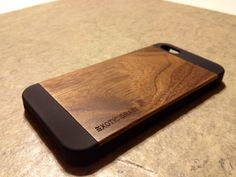 IPHONE 5/5s CASE real wood rich polished EXOTIC by HYDECASES, $29.95
