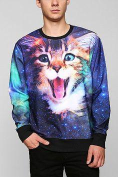 Cat In Space Pullover Sweatshirt