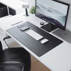 Black Leather Desk Mat