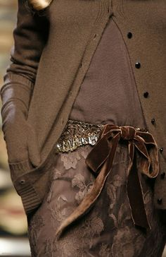 anbenna:   Oh how delicious is shades of brown ....  Valentino