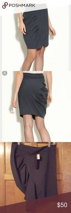 Cynthia Steffe asymmetrical skirt NWT Grey , nwt, side zip Cynthia Steffe Skirts Asymmetrical