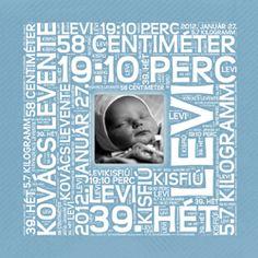 Betűkép ajándék baba kisfiú baba születésére