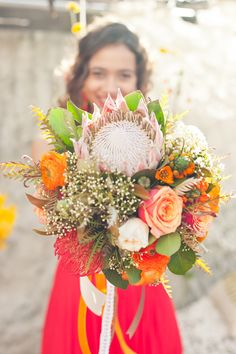 protea wedding bouquet // photo by Martina Micko