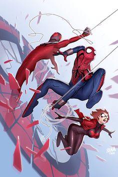 Scarlet Spiders by David Nakayama