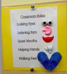Preschool Wonders: Classroom Management {and a freebie}! Potatoe head body parts to remind students of classroom rules Classroom Setting, Classroom Setup, Classroom Displays, Classroom Organization, Future Classroom, Daycare Setup, Year 1 Classroom, Disney Classroom, Superhero Classroom