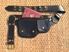 Utility Belt / Leather Hip Bag / Fanny Pack - Phone Wallet, Passport Pocket, Travel Money Belt - The Hipster by ThaiArtistCollective on Etsy