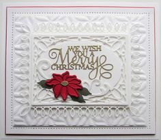 PartiCraft (Participate In Craft) Christmas Themes, Christmas Cards, Christmas 2019, Wish You Merry Christmas, Beautiful Christmas, Christmas Sentiments, Snowflake Background, Sue Wilson, Paper Crafts
