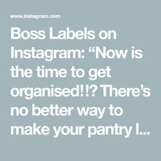 """Boss Labels on Instagram: """"Now is the time to get organised‼️ There's no better way to make your pantry look amazing than with these  new jars! available now!! 4…"""" Pantry Organisation, Organization, Getting Organized, Jars, How To Get, Make It Yourself, Amazing, Kitchen, Instagram"""