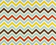 Home Dec Fabric Yardage  Chevron Stripe French Blue by decorate23, $9.95