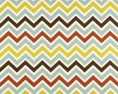 Home Dec Fabric Yardage  Chevron Stripe French Blue by decorate23, $9.95