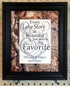 Personalized Realtree Camo Hardwoods Green Blaze Orange Buck Doe Matted Wedding Shower Gift Home Decor Every Love Story Is Beautiful Wedding Themes, Wedding Signs, Our Wedding, Dream Wedding, Wedding Ideas, Camo Wedding Decorations, Wedding Quotes, Trendy Wedding, Wedding Dresses