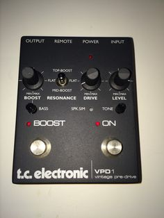 TC Electronic VPD1 vintage pre-drive pedal RARE minty