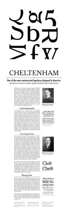 Cheltenham Serif Garalde 1896 Bertram Goodhue, Ingalls Kimball Poster by Barbora Batokova
