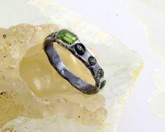 peridot eternity ring; kathy van kleeck