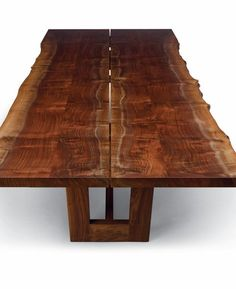 Live edge dining table, bookmatched walnut. Altura.
