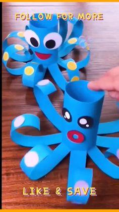 Simple Crafts For Kids, Super Easy Crafts For Kids, Craft Work For Kids, Toddler Arts And Crafts, Animal Crafts For Kids, Summer Crafts For Kids, Craft Projects For Kids, Art For Kids, Simple Art And Craft
