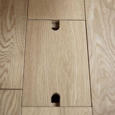 floor outlet with wood cap