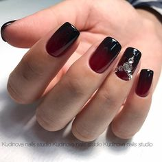 18 Red Nails Designs for Any Occasion ★ Red Nails with Ombre Picture 3 ★ See more: http://glaminati.com/red-nails-designs/ #rednails #rednaildesigns