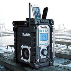 Makita Jobsite Radio – $140 radio, cordless, battery, compatible, music,  alarm clock