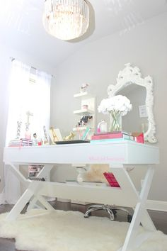 Glamorous Desk, visit http://misslizheart.com to see what's inside the drawers.