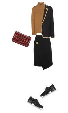 """Untitled #21"" by clment-picot on Polyvore featuring Valentino, Balenciaga, Givenchy, Chanel and Yves Saint Laurent"
