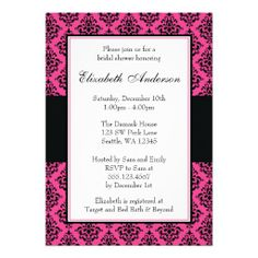 >>>best recommended          	Pink and Black Damask Bridal Shower Custom Invitation           	Pink and Black Damask Bridal Shower Custom Invitation today price drop and special promotion. Get The best buyShopping          	Pink and Black Damask Bridal Shower Custom Invitation lowest price Fas...Cleck Hot Deals >>> http://www.zazzle.com/pink_and_black_damask_bridal_shower_invitation-161487437104328223?rf=238627982471231924&zbar=1&tc=terrest