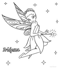 Disney Fairies Iridessa Coloring Pages