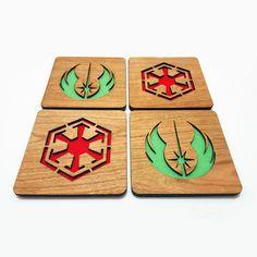 Jedi Order vs Sith Empire Star Wars Coaster Set by Bazingapop