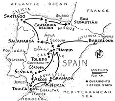 Spain intinerary map Rick Steves' website