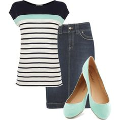 A fashion look from October 2014 featuring Oasis t-shirts and kew.159 skirts. Browse and shop related looks.