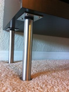 legs from IKEA called Capita legs ($12 for a 4 pack) and screwed them into each…