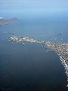 View from the plane..Isla de la Punta - Callao Peru