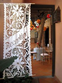 Can we cut these out ! K Gonzales /// Papel Picado Signs Mexican Wedding Decorations, Mexican Themed Weddings, Our Wedding, Dream Wedding, Spanish Wedding, Mexican Designs, Mexican Party, Bouquet, Wedding Inspiration