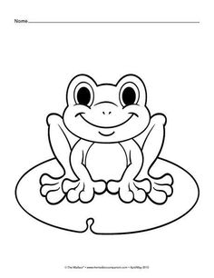 Frog Coloring Page and Word Tracing | Tracing worksheets ...