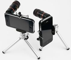 Pin of the day/ Photojojo -Sure this gadget may look pretty weird at first. But what if it could give you 8x optical zoom , turning your iPhone into an instant spy tool. Unlike a DSLR lens that costs hundreds of dollars , this one costs just $35.