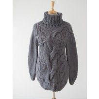 Cable Stitch Maxi Sweater - Erika Knight