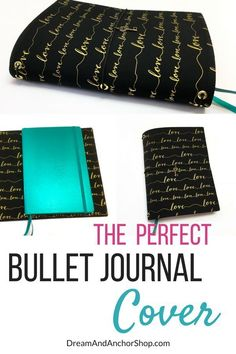 This lightweight bullet journal cover can hold one or more notebooks including an Leuchtturm 1917 journal. Notebooks are attached on the elastics in the center of the cover and can be changed out whenever you want. Types Of Planners, Day Planners, Notebook Covers, Journal Covers, Fabric Journals, Art Journals, Memory Journal, Bullet Journal Inspiration, Journal Ideas