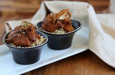 slow cooker teriyaki chicken rice bowls. YUM!